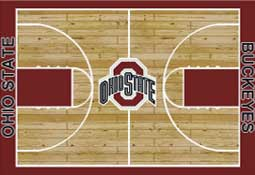 Ohio State University Basketball Sports Rug